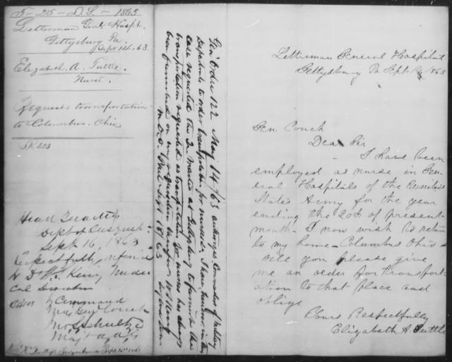Tuttle, Elizabeth A - State: Pennsylvania - Year: 1863
