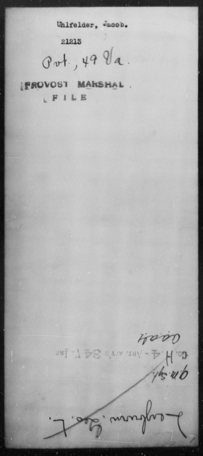 Uhlfelder, Jacob - State: Virginia - Year: [Blank]