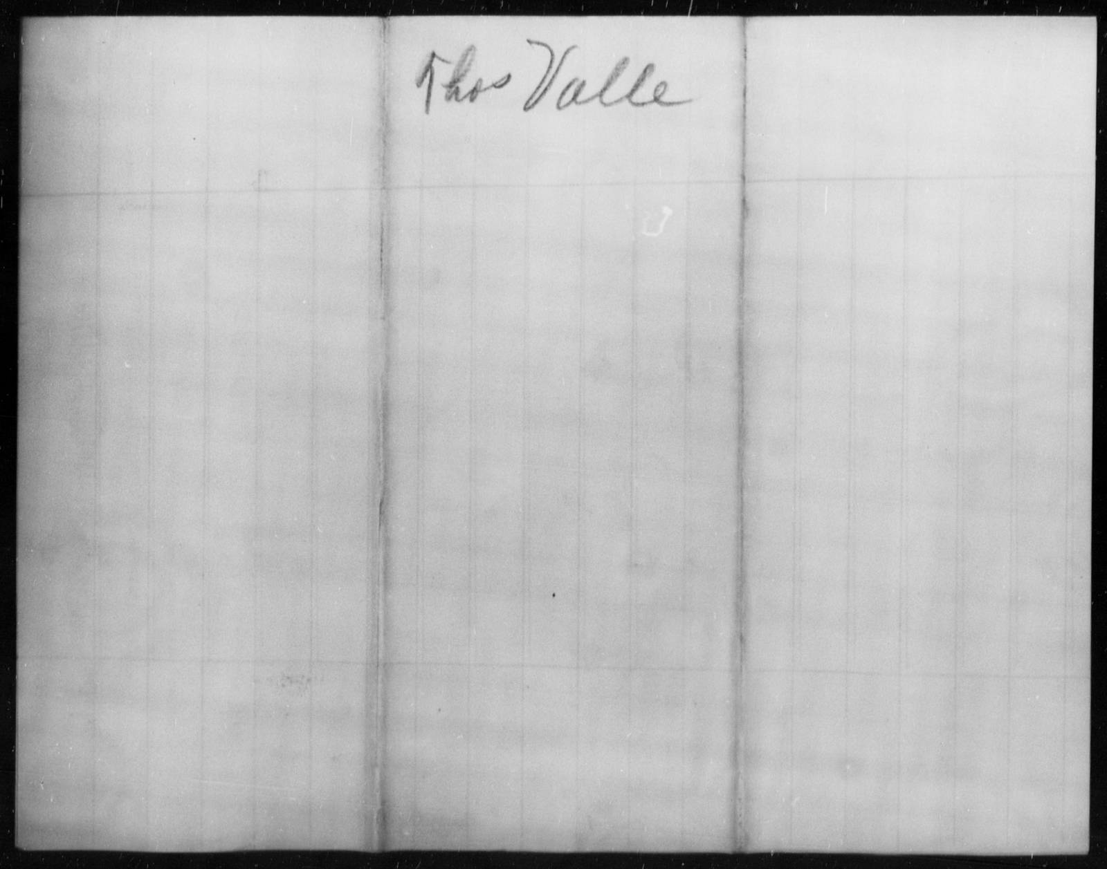 Valle, Thos - State: [Blank] - Year: [Blank]