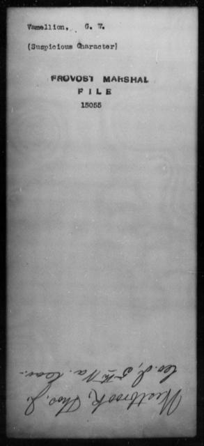 Vamellion, G W - State: [Blank] - Year: [Blank]