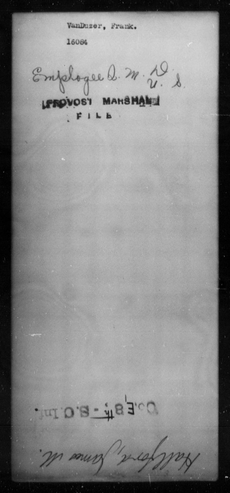 Van Duzer, Frank - State: [Blank] - Year: [Blank]