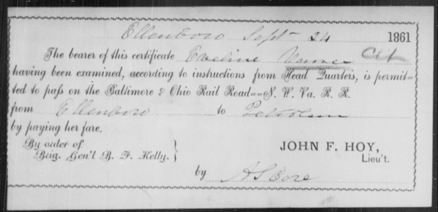 Varner, Eveline - State: Ohio - Year: 1861