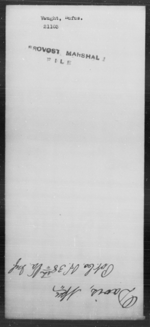 Vaught, Rufus - State: [Blank] - Year: [Blank]