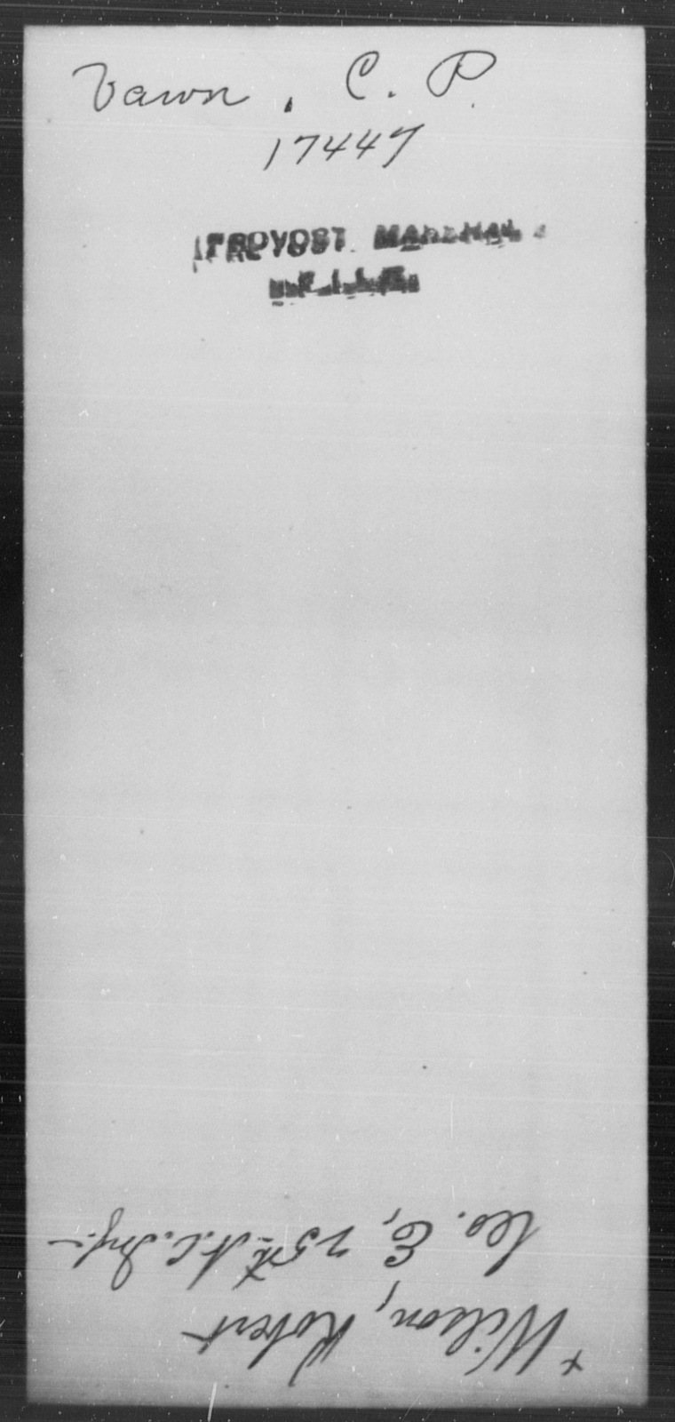 Vawn, C P - State: [Blank] - Year: [Blank]