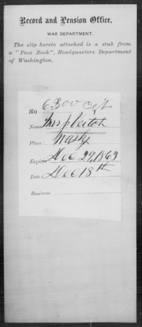 Veitch, J - State: Washington - Year: 1863