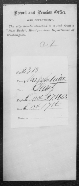 Veitch, John - State: Washington - Year: 1863