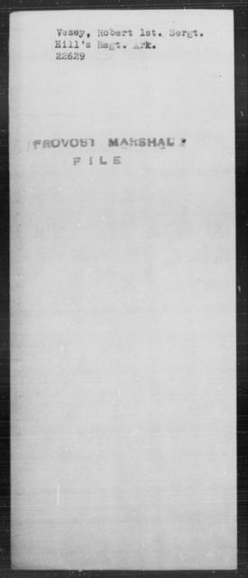 Vesey, Robert - State: [Blank] - Year: [Blank]