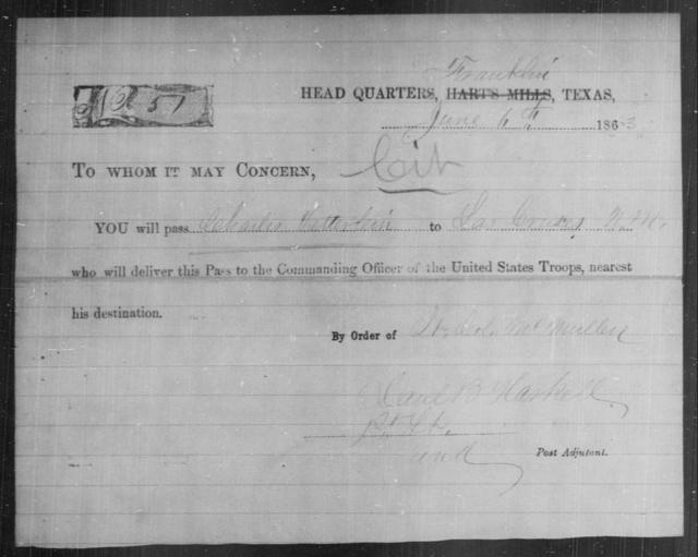Vetterlein, Charles - State: Texas - Year: 1863