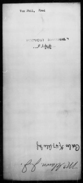 Von Phil, Fred - State: [Blank] - Year: [Blank]