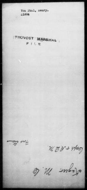 Von Phul, Henry - State: [Blank] - Year: [Blank]