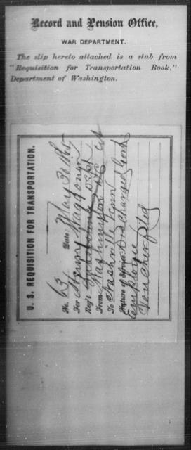 Waggoner, Henry - State: Washington - Year: 1863