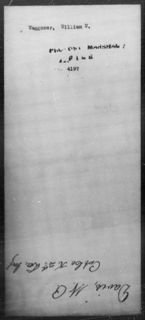 Waggoner, William W - State: [Blank] - Year: [Blank]