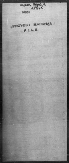 Wagner, Albert G - State: [Blank] - Year: [Blank]