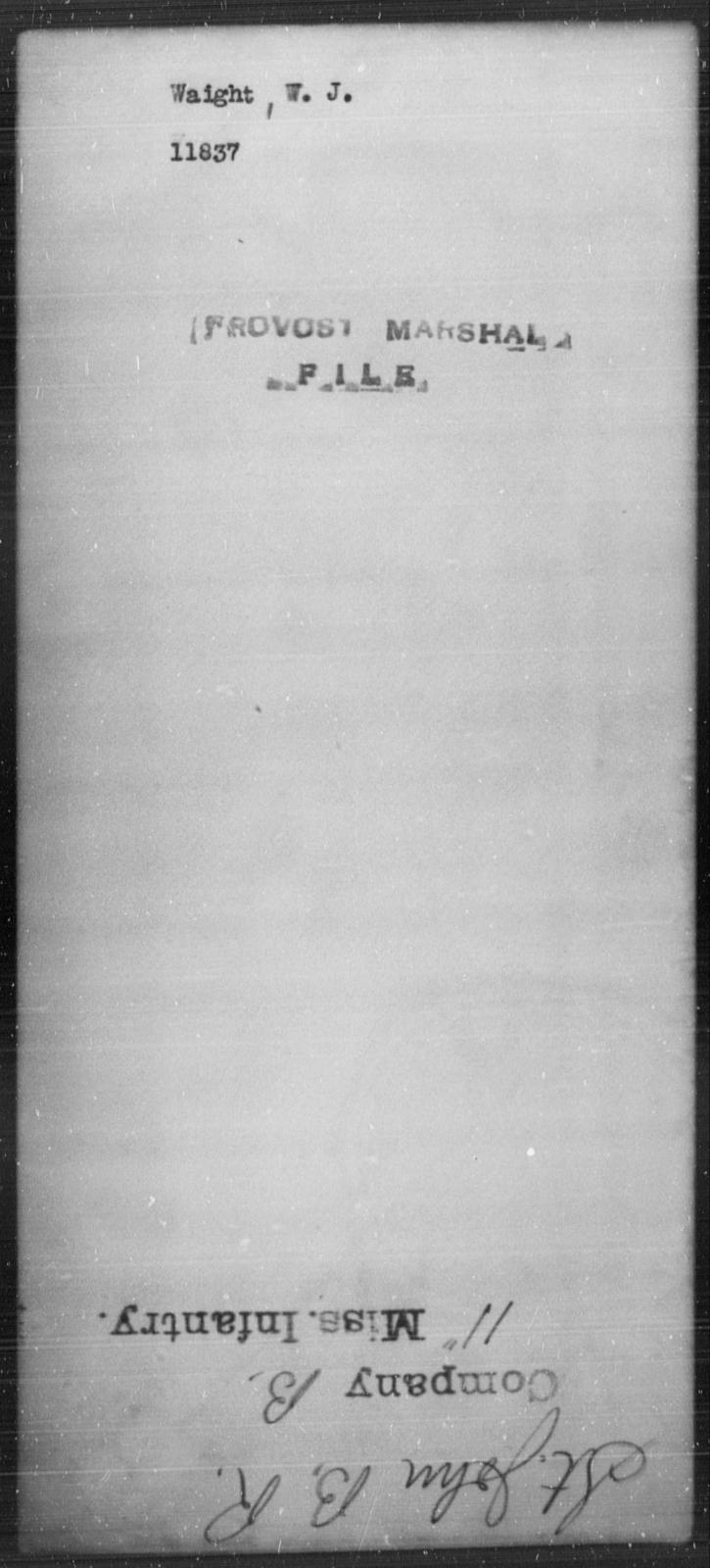 Waight, W J - State: [Blank] - Year: [Blank]