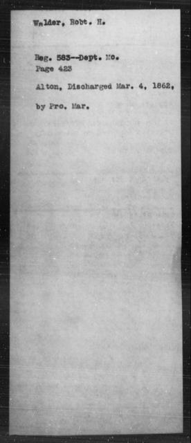 Walden, Robt H - State: [Blank] - Year: [Blank]