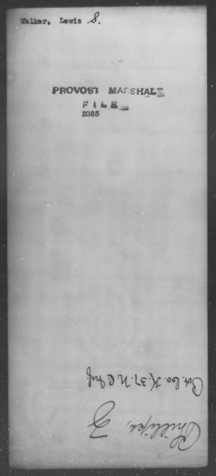 Walker, Lewis S - State: [Blank] - Year: [Blank]