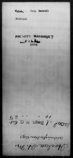 Walsh, John Carroll - State: [Blank] - Year: [Blank]