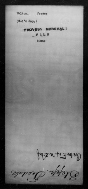 Walton, Jessee - State: [Blank] - Year: [Blank]