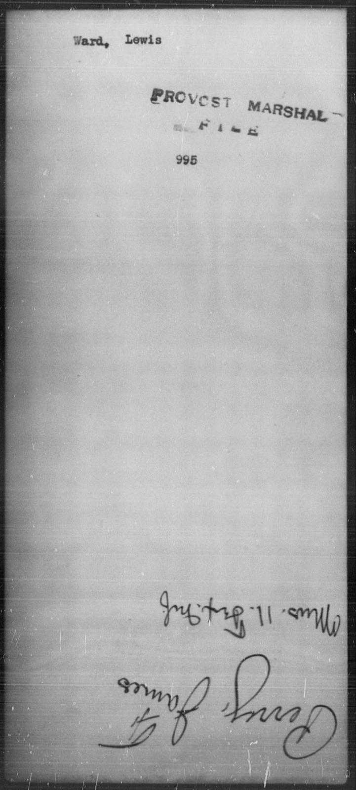 Ward, Lewis - State: [Blank] - Year: [Blank]