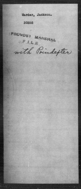 Warder, Jackson - State: [Blank] - Year: [Blank]