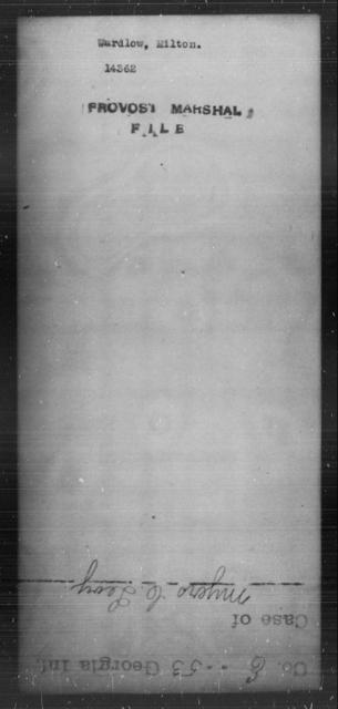 Wardlow, Milton - State: [Blank] - Year: [Blank]