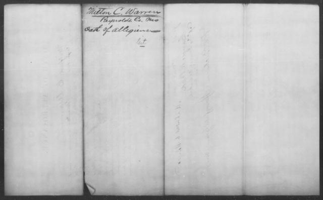 Warren, Milton C - State: Missouri - Year: 1862