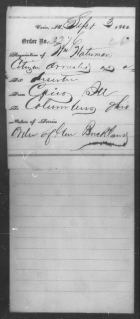 Waterman, Wm - State: Illinois - Year: 1863