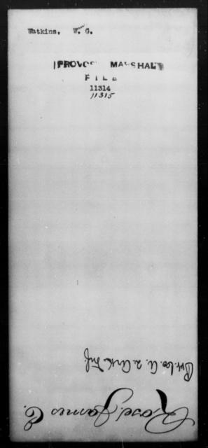 Watkins, Wm G - State: [Blank] - Year: [Blank]