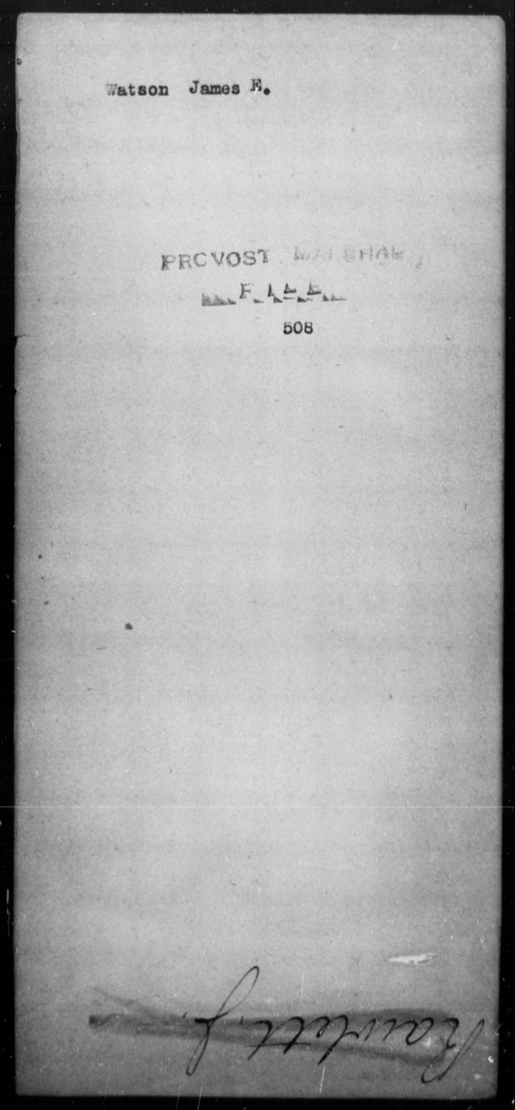 Watson, James E - State: [Blank] - Year: [Blank]