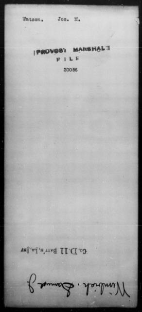 Watson, Jos M - State: [Blank] - Year: [Blank]
