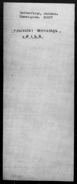 Watterfield, Jackson - State: [Blank] - Year: [Blank]