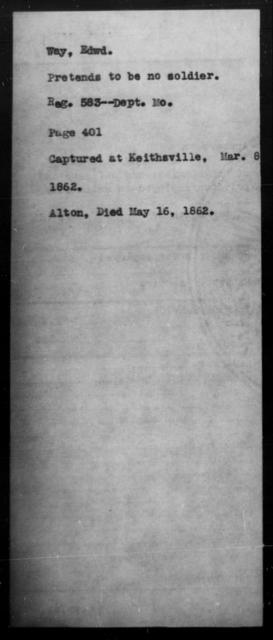 Way, Edwd - State: Missouri - Year: 1862