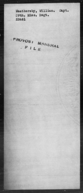 Weathersby, William - State: Mississippi - Year: [Blank]