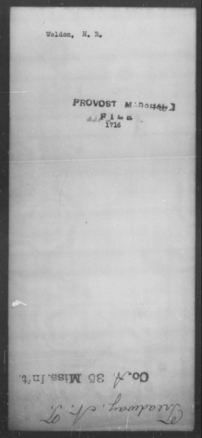 Weldon, H R - State: [Blank] - Year: [Blank]