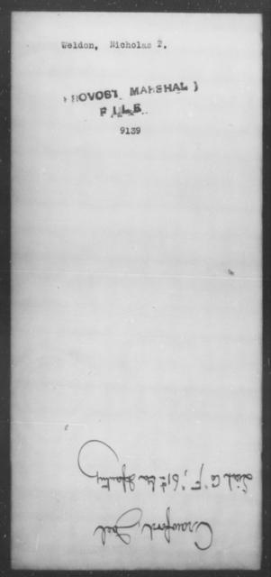 Weldon, Nicholas T - State: [Blank] - Year: [Blank]
