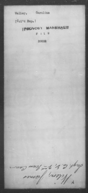 Welley, Caroline - State: [Blank] - Year: [Blank]
