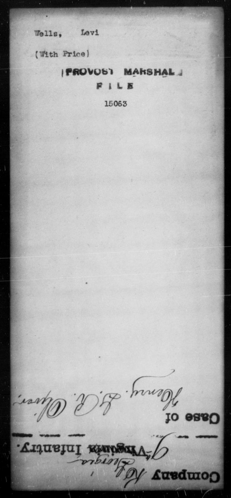 Wells, Levi - State: [Blank] - Year: [Blank]