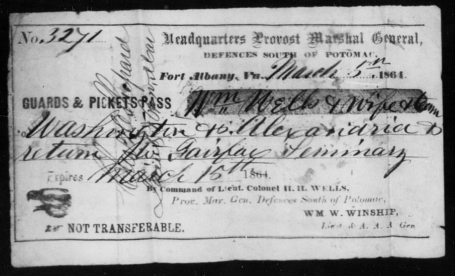 Wells, Wm - State: Virginia - Year: 1861