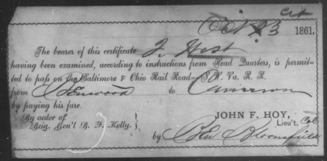 West, J - State: Ohio - Year: 1861