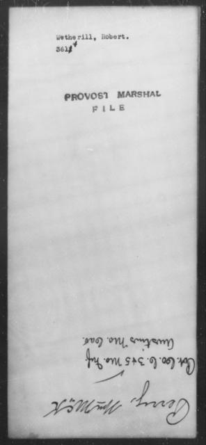 Wetherill, Robert - State: [Blank] - Year: [Blank]