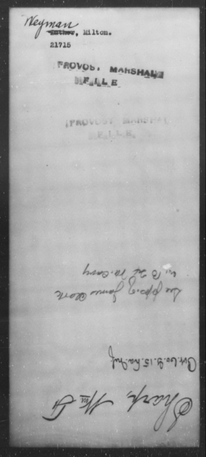 Weyman, Milton - State: [Blank] - Year: [Blank]