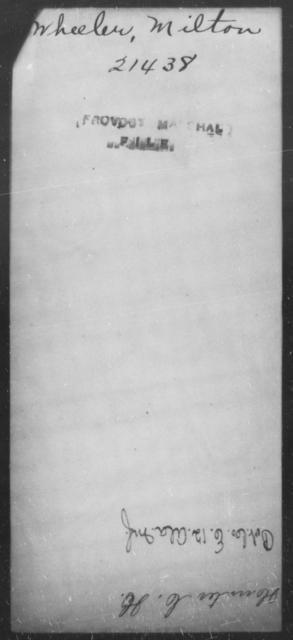 Wheeler, Milton - State: [Blank] - Year: [Blank]