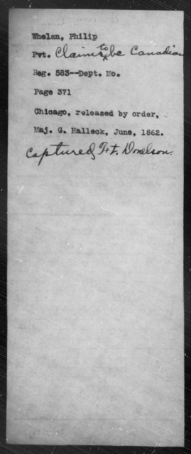 Whelan, Phillip - State: Missouri - Year: 1862