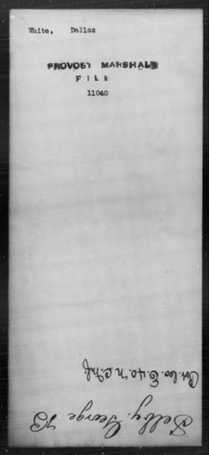 White, Dallas - State: [Blank] - Year: [Blank]