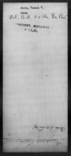 White, Samuel C - State: [Blank] - Year: [Blank]