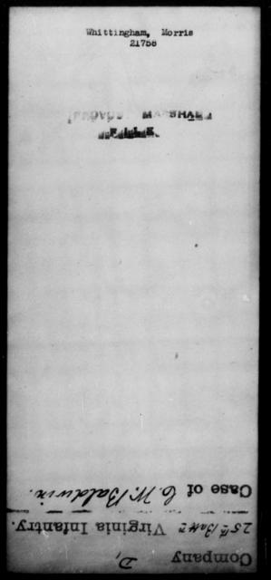 Whittingham, Morris - State: [Blank] - Year: [Blank]
