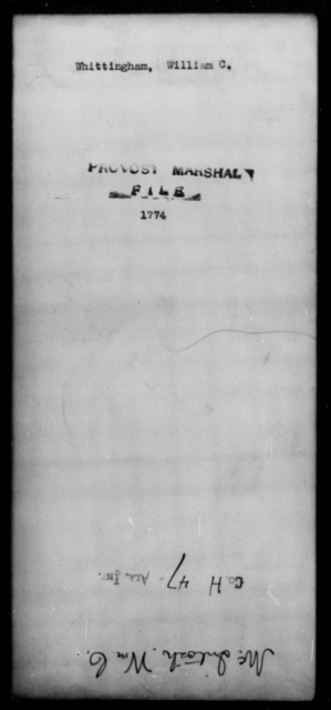 Whittingham, William C - State: [Blank] - Year: [Blank]