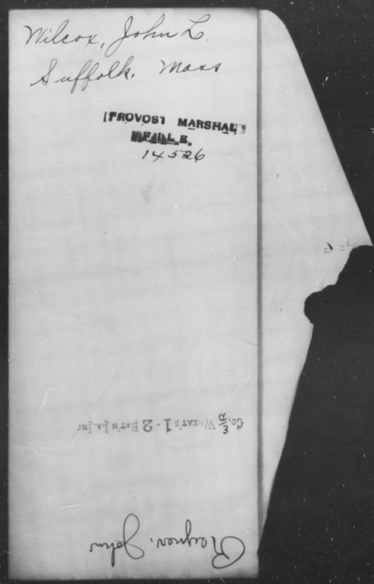Wilcox, John L - State: Massachusetts - Year: [Blank]