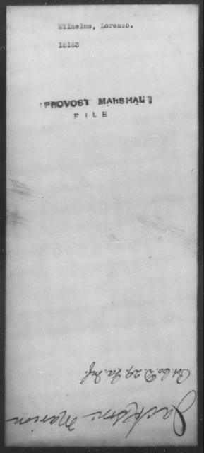 Wilhelms, Lorenzo - State: [Blank] - Year: [Blank]