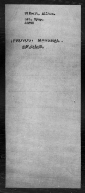 Wilhoit, Milton - State: [Blank] - Year: [Blank]